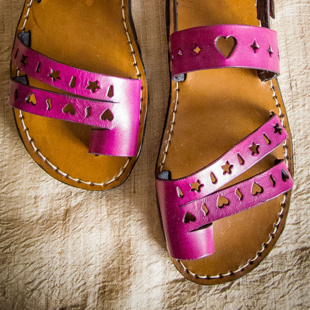 Punched Strap Sandals